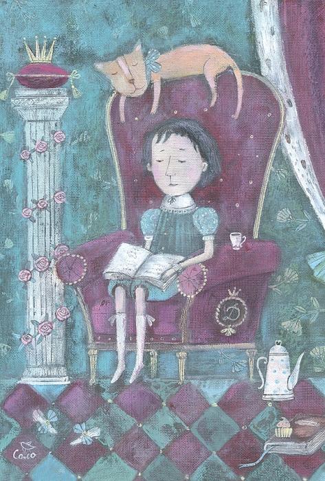 Открытка Вечерняя сказка. Автор Светлана СоловьеваSvS10-020Оригинальная дизайнерская открытка «Вечерняя сказка» выполнена из плотного матового картона. На лицевой стороне расположена репродукция работы художницы Светланы Соловьевой с принцем, читающим книгу сказок. Такая открытка станет великолепным дополнением к подарку или оригинальным почтовым посланием, которое, несомненно, удивит получателя своим дизайном и подарит приятные воспоминания.