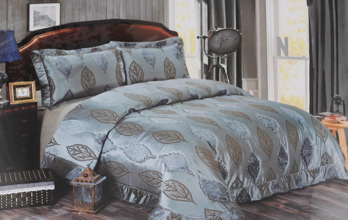 Комплект для спальни Arya Maura, покрывало 250 х 260 см, 2 наволочки 50 х 75 смTR1001110Комплект для спальни Arya Maura выполнен из высококачественного полиэстера и состоит из покрывала (250 х 260 см) и двух наволочек (50 х 70 см). Ткань является матовой, что придает ей изысканный внешний вид. Советы по уходу: - Эта ткань устойчива к машинной стирке в холодной воде (до 30°С). - Не рекомендуется отбеливать. - Гладить утюгом, регулятор которого установлен на минимум (до 110°С). Компания Arya - признанный турецкий лидер на рынке постельных принадлежностей и текстиля для дома. Поэтому вы можете быть уверены, что приобретенный текстиль доставит вам и вашим близким удовольствие.