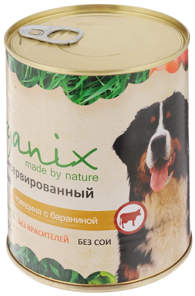 Консервы для собак Organix, говядина с бараниной, 850 г19669Консервы для собак Organix - вкусный консервированный корм для собак с говядиной и бараниной. Изготовлен из 100% свежего мяса различного вида. Не содержит искусственных красителей, ароматизаторов или консервантов, ГМО. Специальная обработка помогает сохранять корм длительное время. Корм приготовлен из тщательно отобранных сортов мяса, которые внесут приятное разнообразие в меню вашей собаки. Корм разработан для обеспечения всех питательных потребностей взрослых собак. Состав: говядина, рубец, баранина, масло растительное, мука костная, стабилизатор Е472с, соль, вода. Пищевая ценность (в 100 г продукта): белок - не менее 7,0 г, жир - не более 8,0 г. Энергетическая ценность (калорийность): 100 ккал/592 кДж. Товар сертифицирован.