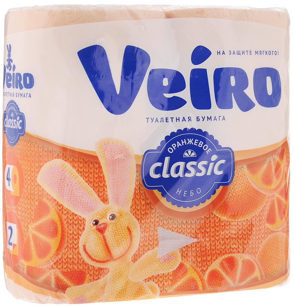 Бумага туалетная Veiro Classic. Цитрус, ароматизированная, двухслойная, 4 рулона5C24жАроматизированная туалетная бумага Veiro Classic. Цитрус, выполнена из натуральной целлюлозы и обладает приятным ароматом апельсина. Двухслойная туалетная бумага мягкая, нежная, но в тоже время прочная, с отрывом по линии перфорации. Листы имеют рисунок с тиснением. Длина рулона: 17,5 м. Количество слоев: 2. Размер листа: 12,5 х 9,5 см. Состав: 100% целлюлоза.