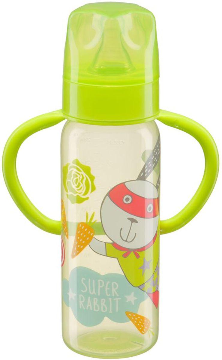 Happy Baby Бутылочка для кормления с ручками и силиконовой соской 10007