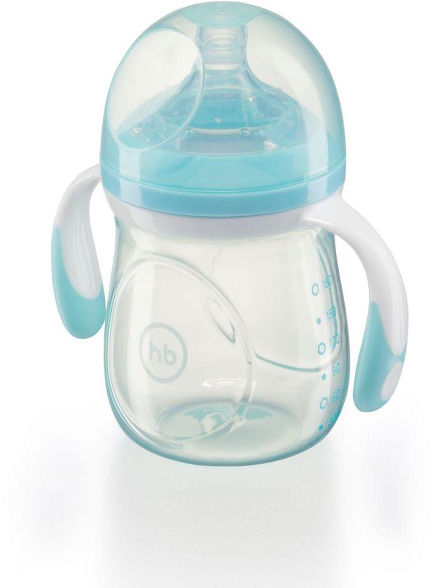Happy Baby Бутылочка для кормления с ручками и антиколиковой силиконовой соской 180 мл