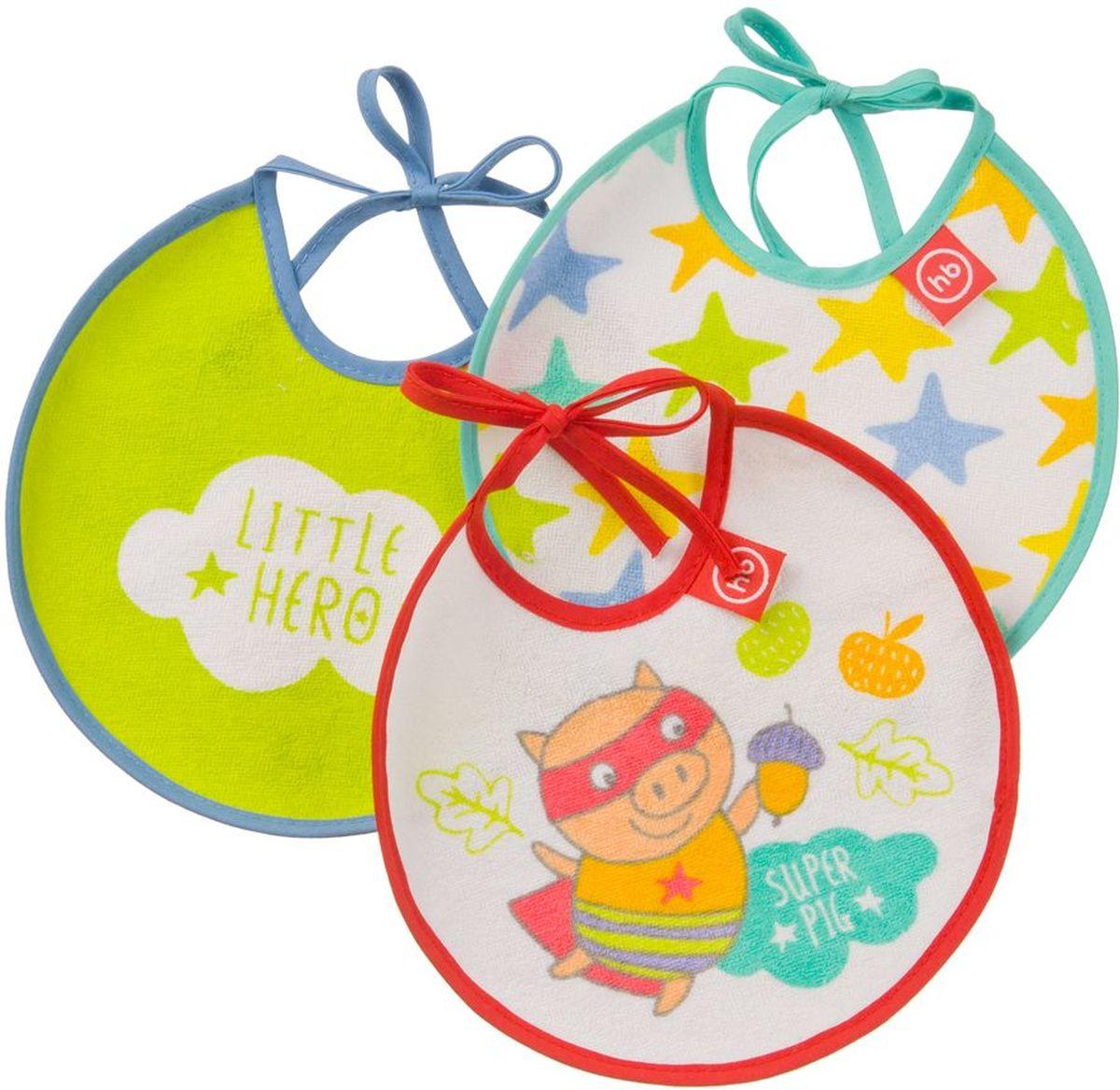 Happy Baby Набор нагрудных фартуков Маленький герой 3 шт
