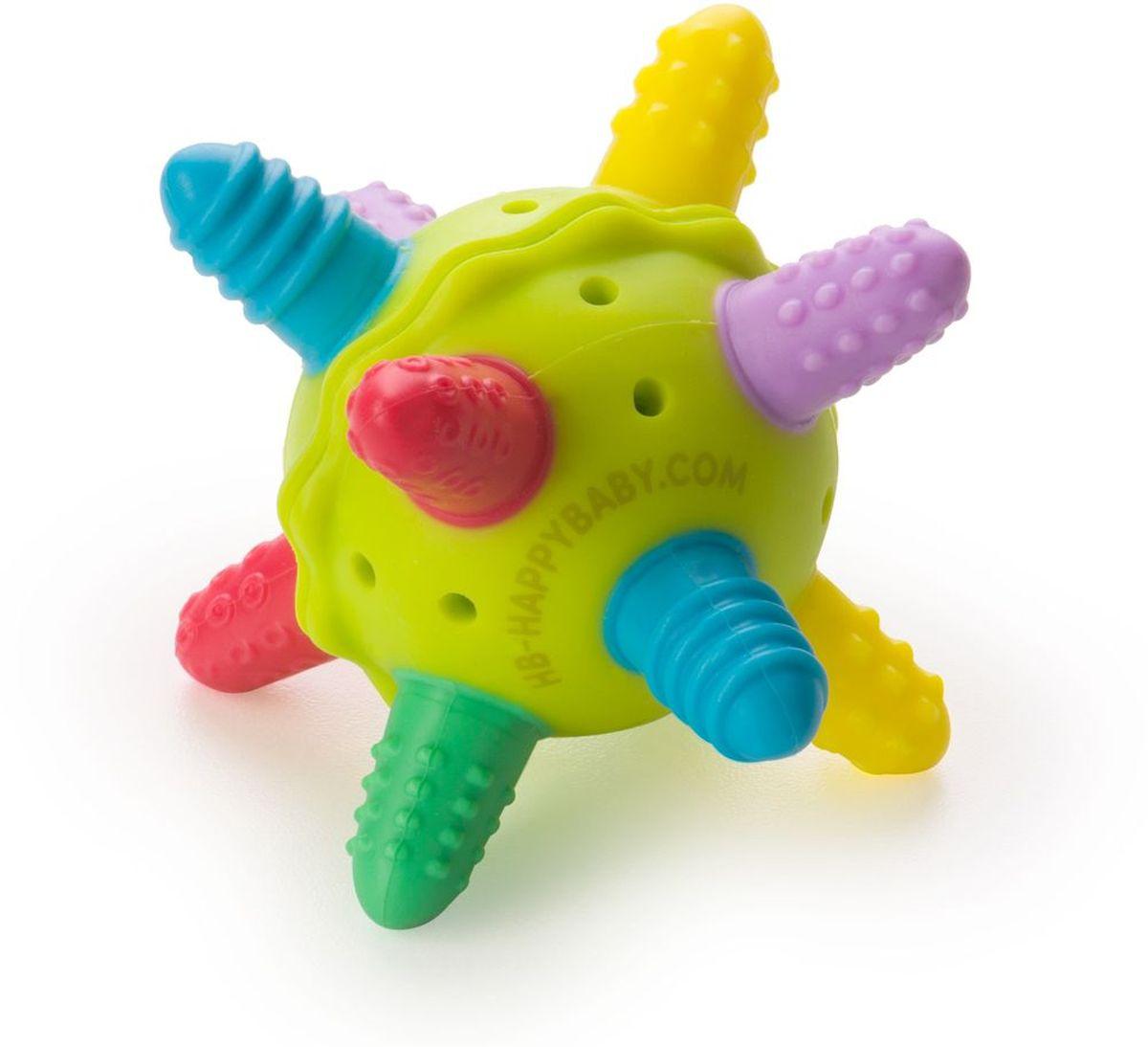 Happy Baby Прорезыватель-погремушка силиконовая