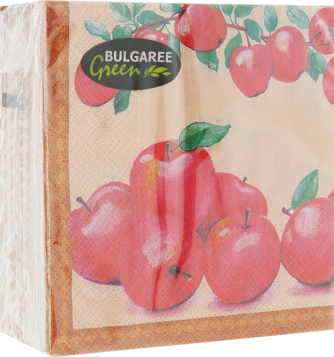 Салфетки бумажные Bulgaree Green Наливные яблочки, двухслойные, 24 х 24 см, 50 шт1000210_Наливные яблочкиДекоративные двухслойные салфетки Bulgaree Green Наливные яблочки выполнены из 100% целлюлозы европейского качества и оформлены ярким рисунком. Изделия станут отличным дополнением любого праздничного стола. Они отличаются необычной мягкостью, прочностью и оригинальностью. Размер салфеток в развернутом виде: 24 х 24 см.