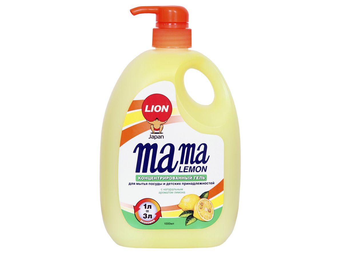 Гель для мытья посуды и детских принадлежностей Mama Lemon, с араматом лимона, 1000 мл46201Для мытья посуды, овощей и фруктов, для мытья детских принадлежностей, на основе природных минералов, классическая боразлагаемая формула, 3х концентрация, не сушит руки, на основе природных минералов, устраняет неприятные запахи