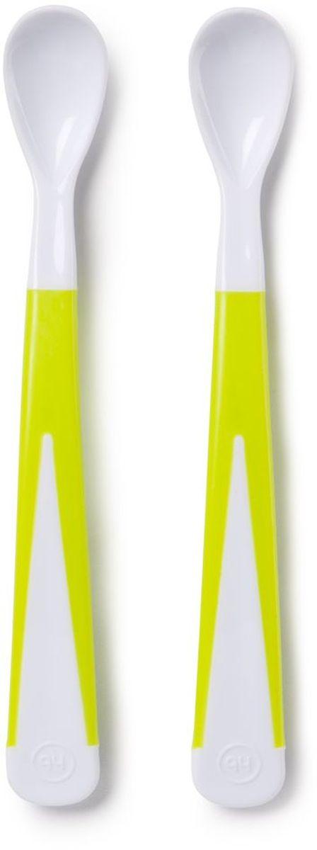 Happy Baby Набор ложек для кормления New Style цвет белый салатовый ( 15023 NEW )