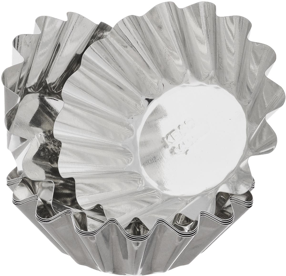 Набор форм для выпечки Кварц, диаметр 9,5 см, 6 штКФ-03.006Набор Кварц состоит из шести форм, выполненных из белой жести. Формы предназначены для выпечки и приготовления желе. Стенки изделий рельефные. С набором форм Кварц вы всегда сможете порадовать своих близких оригинальной выпечкой. Диаметр форм (по верхнему краю): 9,5 см. Высота форм: 3 см.