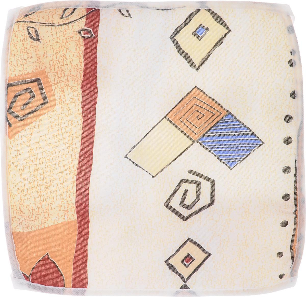 Подушка на стул Eva Ромашка, 34 х 34 смЕ06_бежевый, геометрияПодушка на стул Eva Ромашка, 34 х 34 см