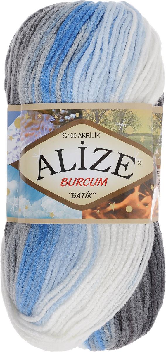 Пряжа для вязания Alize Burсum Batik, цвет: белый, голубой, черный (4200), 210 м, 100 г, 5 шт364118_4200Пряжа Alize Burсum Batik - это классическая демисезонная пряжа секционного крашения. Она мягкая, «нескрипучая». Нить плотно скручена, после распускания не деформируется. Связанные вещи не колются, не линяют, не теряют своей формы, не образуют катышков. Такую пряжу можно даже использовать для вязания детской одежды. Пряжа Alize Burсum Batik идеальна для создания свитеров, регланов, жилетов, кардиганов, шарфов, шапок, аксессуаров, пледов и др. Рекомендованные спицы для вязания 4-6 мм. Состав: 100% акрил.