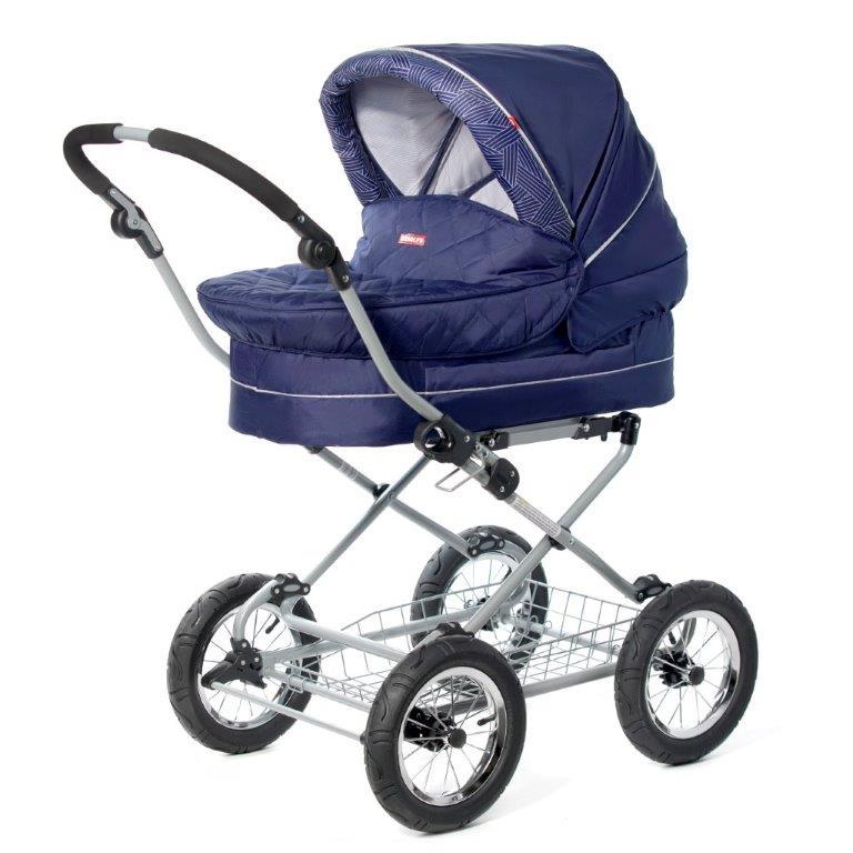 Amalfy Коляска-люлька Blue2500598359941Детская коляска люлька Amalfy предназначена для детей с рождения и до 6 месяцев. В комплект коляски входит спальная люлька Дно люльки – жесткое, это очень важно для правильного формирования позвоночника новорожденного малыша. Для удобства родителей предусмотрены регулировка высоты ручки, корзина для покупок, москитная сетка, дождевик и сумка для мамы. Колеса надувные, камерные, с современной системой амортизации. Ширина колесной базы позволяет с легкостью входить в стандартные лифты и двери, что не вызовет трудностей с транспортировкой коляски.