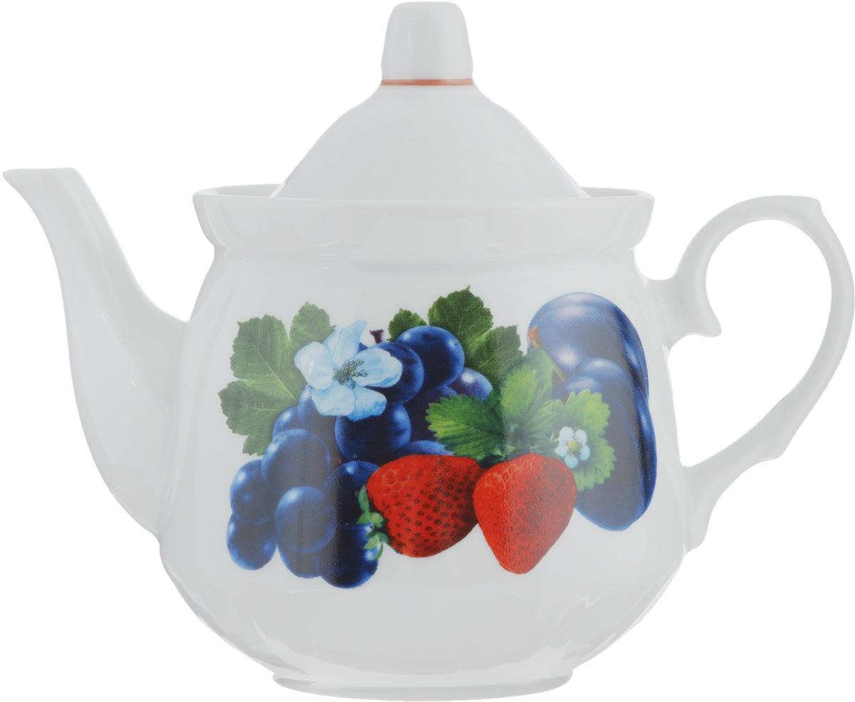 Чайник заварочный Кирмаш. Ассорти, 550 мл1303954Заварочный чайник Кирмаш. Ассорти изготовлен из высококачественного фарфора. Изделие оформлено ярким рисунком. Такой чайник идеально подойдет для заваривания чая. Он хорошо держит температуру, что способствует более полному раскрытию цвета, аромата и вкуса чайного букета. Изделие прекрасно дополнит сервировку стола к чаепитию и станет его неизменным атрибутом. Диаметр (по верхнему краю): 10 см. Высота чайника (без учета крышки): 10,5 см.