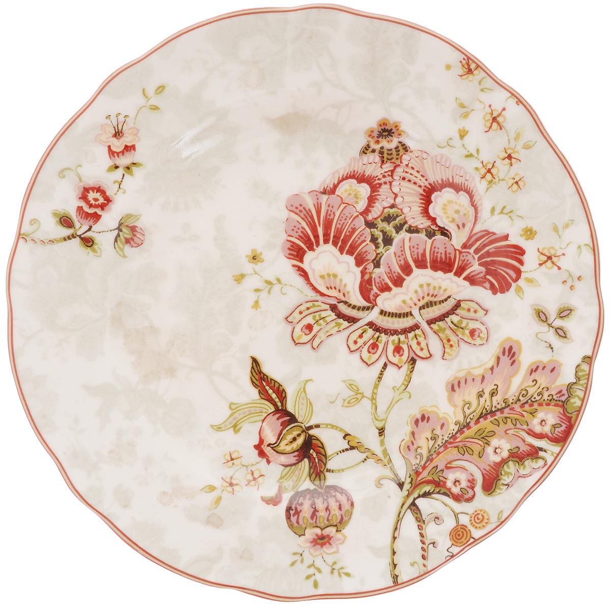 Тарелка десертная Utana Габриэлла, диаметр 22 смUTGB97810Десертная тарелка Utana Габриэлла изготовлена из высококачественной керамики. Многоступенчатый высокотемпературный обжиг, двухстороннее глазурование и использование подглазурных деколей обеспечивает прочность черепка керамической посуды, превращая его практически в камень, при этом защищая поверхность от царапин, а рисунок от истирания. Теплые краски глазури, плавные линии росписи, удобство, долговечность и безопасность, европейское качество и многовековая самобытность национального и культурного наследия индонезийских мастеров - вот то, что является отличительными признаками керамической посуды Utana. Любая коллекция этого производителя создает праздничное настроение и уют в каждом доме. Посуда из керамики, имеющая знак 222 FIFHT, - особая линия посуды, очень популярная в Европе и США, каждый дизайн которой уникален и спустя годы будет так же великолепно свеж и привлекателен. Посуду можно использовать в СВЧ и мыть в посудомоечных машинах.