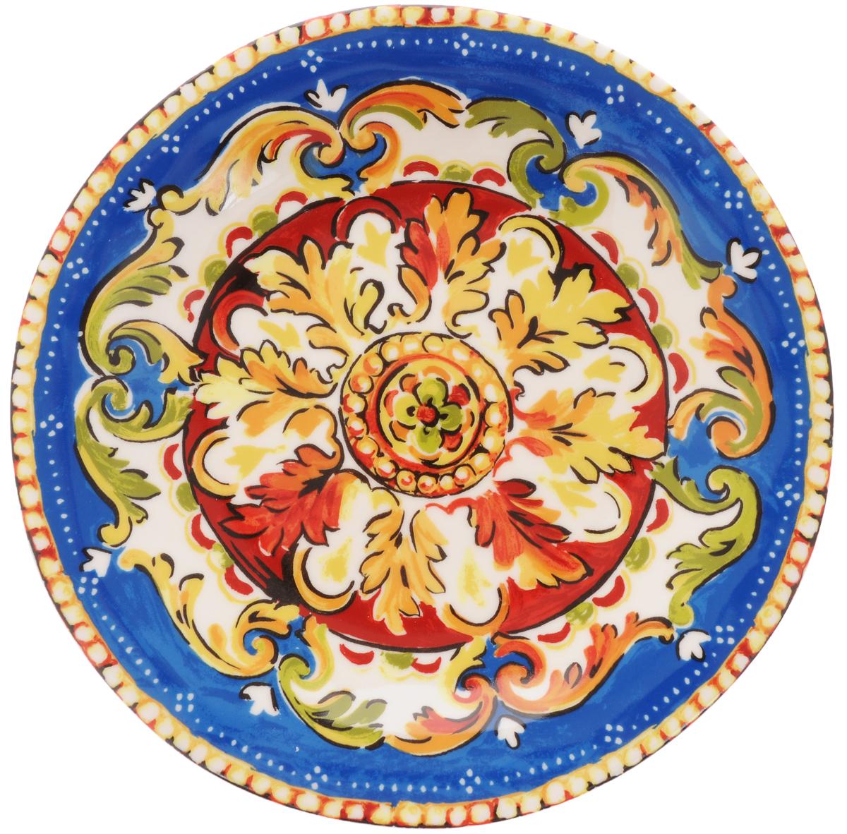 Тарелка обеденная Utana Оберон, диаметр 27 смUTOB41110Обеденная тарелка Utana Оберон изготовлена из высококачественной керамики. Многоступенчатый высокотемпературный обжиг, двухстороннее глазурование и использование подглазурных деколей обеспечивает прочность черепка керамической посуды, превращая его практически в камень, при этом защищая поверхность от царапин, а рисунок от истирания. Теплые краски глазури, плавные линии росписи, удобство, долговечность и безопасность, европейское качество и многовековая самобытность национального и культурного наследия индонезийских мастеров - вот то, что является отличительными признаками керамической посуды Utana. Любая коллекция этого производителя создает праздничное настроение и уют в каждом доме. Посуда из керамики, имеющая знак 222 FIFHT, - особая линия посуды, очень популярная в Европе и США, каждый дизайн которой уникален и спустя годы будет так же великолепно свеж и привлекателен. Посуду можно использовать в СВЧ и мыть в посудомоечных машинах.