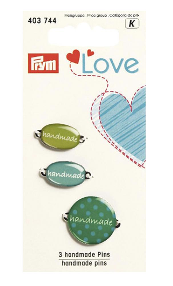 Набор эмблем Prym Handmade. Love, цвет: зеленый, 3 шт7715143Эмблемы предназначены для пришивания, а также использования в качестве дизайнерских ярлычков на одежде, сумках, рюкзаках, шапках и так далее.