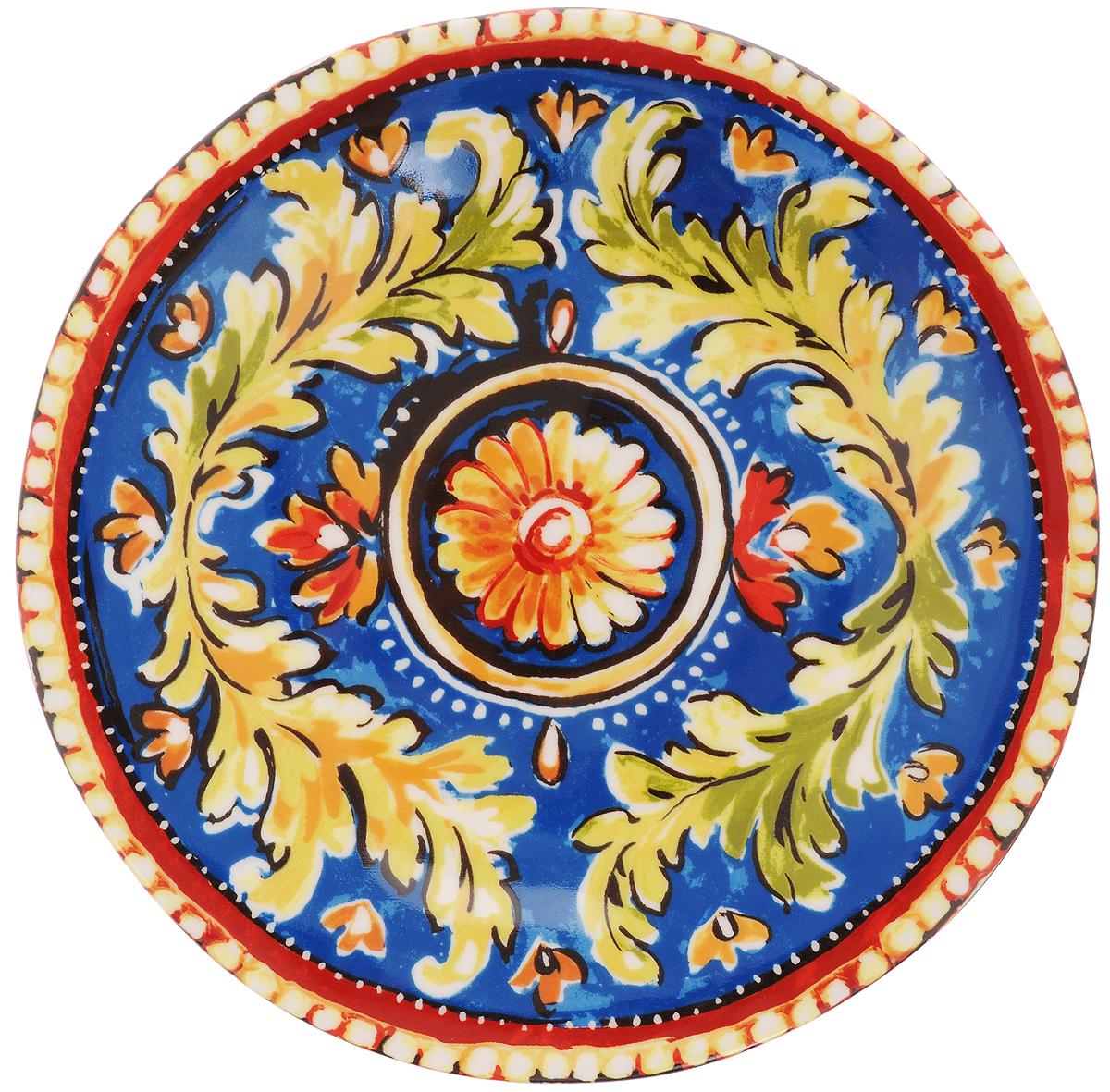 Тарелка десертная Utana Оберон, диаметр 23 смUTOB41810Десертная тарелка Utana Оберон изготовлена из высококачественной керамики. Многоступенчатый высокотемпературный обжиг, двухстороннее глазурование и использование подглазурных деколей обеспечивает прочность черепка керамической посуды, превращая его практически в камень, при этом защищая поверхность от царапин, а рисунок от истирания. Теплые краски глазури, плавные линии росписи, удобство, долговечность и безопасность, европейское качество и многовековая самобытность национального и культурного наследия индонезийских мастеров - вот то, что является отличительными признаками керамической посуды Utana. Любая коллекция этого производителя создает праздничное настроение и уют в каждом доме. Посуда из керамики, имеющая знак 222 FIFHT, - особая линия посуды, очень популярная в Европе и США, каждый дизайн которой уникален и спустя годы будет так же великолепно свеж и привлекателен. Посуду можно использовать в СВЧ и мыть в посудомоечных машинах.