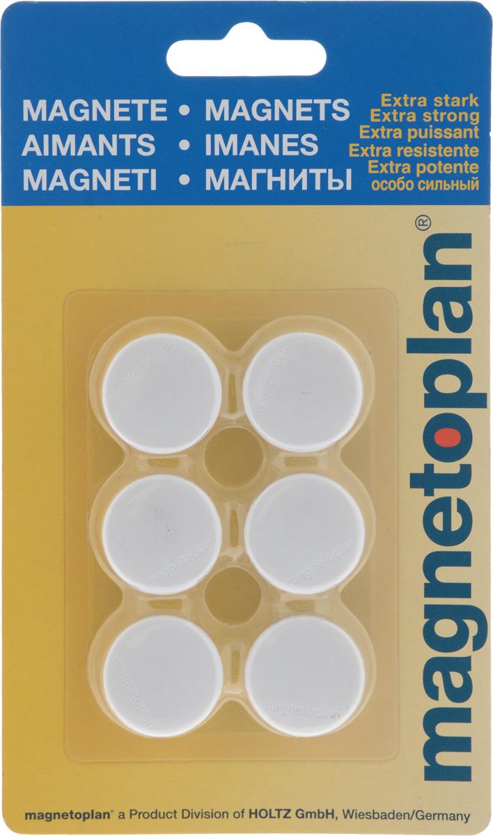 Магниты Magnetoplan, цвет: белый, 6 шт