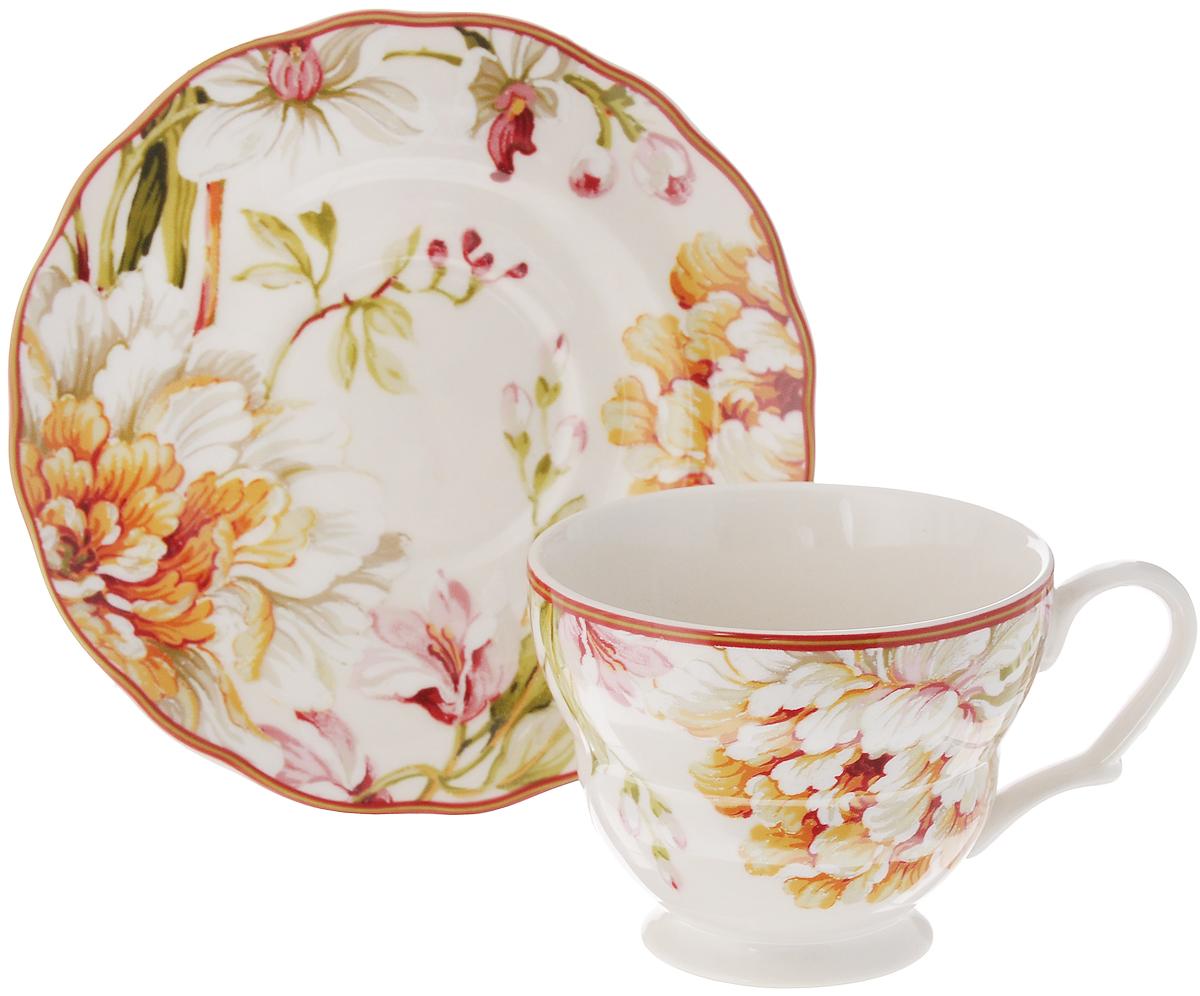 Чашка с блюдцем Utana Пенелопа, 200 млUTPN97301/2Чайная пара Utana Пенелопа состоит из чашки и блюдца, изготовленных из высококачественной керамики. Внешние стенки декорированы изящным цветочным рисунком. Такой набор станет незаменимым аксессуаром для чаепития и порадует вас оригинальным дизайном и практичностью. Многоступенчатый высокотемпературный обжиг, двухстороннее глазурование и использование подглазурных деколей обеспечивает прочность черепка керамической посуды, превращая его практически в камень, при этом защищая поверхность от царапин, а рисунок от истирания. Теплые краски глазури, плавные линии росписи, удобство, долговечность и безопасность и многовековая самобытность национального и культурного наследия индонезийских мастеров - вот то, что является отличительными признаками керамической посуды Utana. Любая коллекция этого производителя создает праздничное настроение и уют в каждом доме. Посуда из керамики, имеющая знак 222 FIFHT, - особая линия посуды, очень популярная в Европе и США, каждый дизайн...