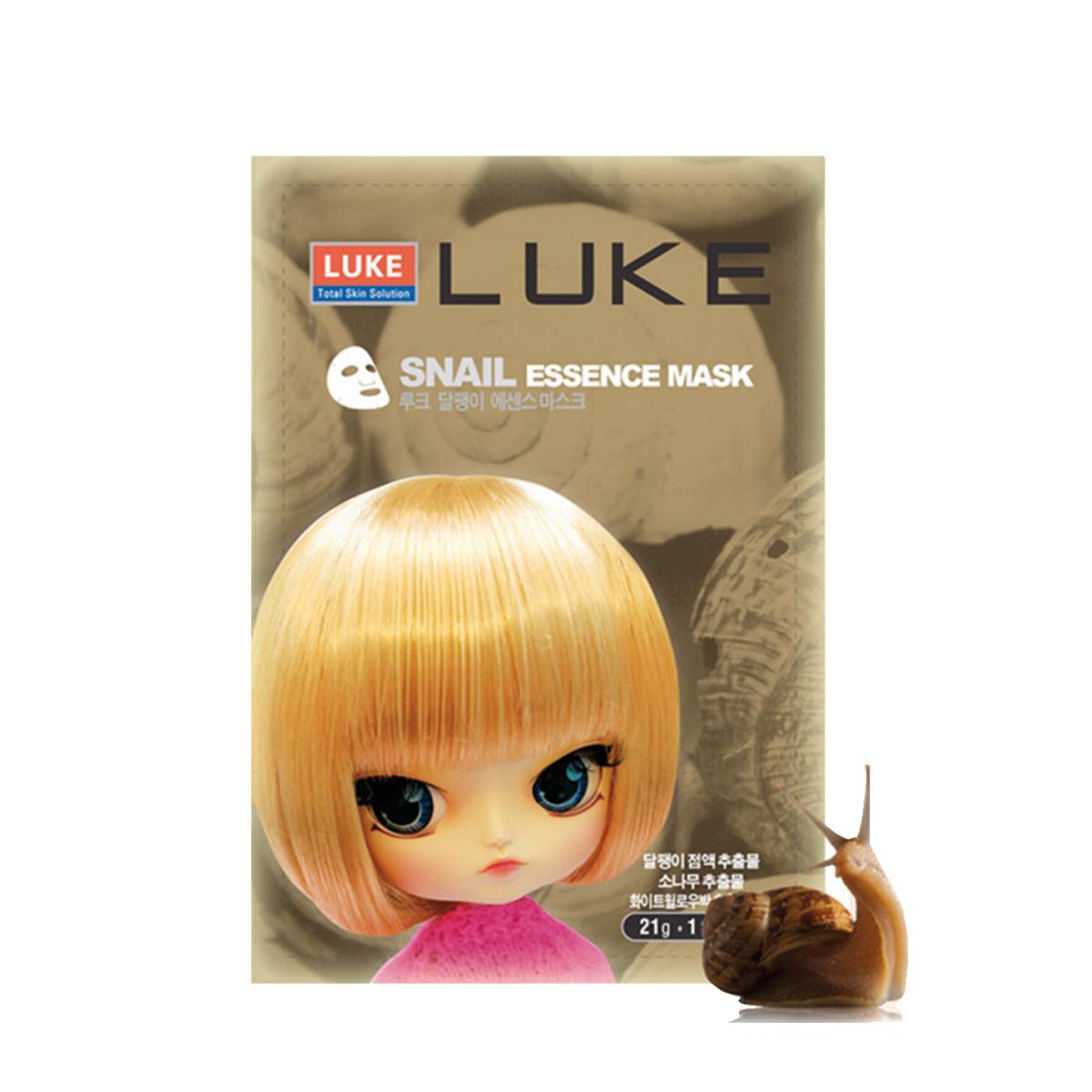 Luke Маска с экстрактом слизи улитки Snail Essence Mask 21 г929762Маска с экстрактом слизи улитки высокоэффективно увлажняет, отбеливает и придает упругость кожи. Способ применения: на очищенную кожу лица, нанести маску и оставить на 20-30 минут. Затем снять маску, а остатки геля легкими движениями распределить на лицо. Меры предосторожности: Хранить в недоступном для детей месте. Избегать контакта с глазами. Срок годности после вскрытия 1 день. Состав: вода, глицерин, бутиленгликоль, бетаин, пантенол, фильтрат слизи улитки, экстракт огурца, полынь обыкновенная, экстракт Фаленопсис прелестный, экстракт Каланта, экстракт густоцветковой сосны, экстракт орхидеи, экстракт коры белой ивы, аллантоин, дипотассиум глицирризат, ксантановая камедь, карбомер, касторовое масло, сополимер, пропиленгликоль, динатриевой соли ЭДТА, гидроксид натрия, экстракт листьев алоэ.