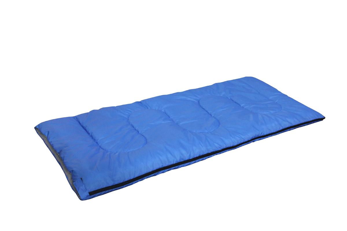Спальный мешок-одеяло Reka, цвет: синий, черный, правосторонняя молнияSK-111Основные характеристики: Тип: одеяло Размер: 180X75см Материал наружный: 190Т полиэстер с PA покрытием Материал внутренний: T/C Наполнитель: 250гр./м2 холофайбер Температурный режим: до +10? Вес: 1 кг Страна-производитель: Китай Упаковка: чехол, пакет Практичная модель для летнего сезона в туризме и активного отдыха на природе. Комплектуется компактным чехлом.