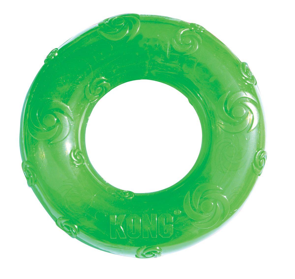 Игрушка для собак Kong Сквиз Кольцо, большое, резиновое с пищалкойPSR1Kong игрушка для собак Сквиз Кольцо большое резиновое с пищалкой. Игрушка для собак мелких пород. Изготовлена из очень прочной и безопасной резины. Пищалка утоплена в слой резины, что не позволяет собаке вынуть и сгрызть пищалку. Диаметр 15 см.
