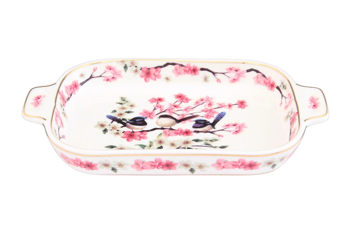 Шпротница Elan Gallery Райские птички, 18 х 10,5 х 2,5 см504018Изящная шпротница изготовлена из фарфора. Благодаря прекрасному дизайну, шпротница станет отличным дополнением к Вашему кухонному инвентарю.