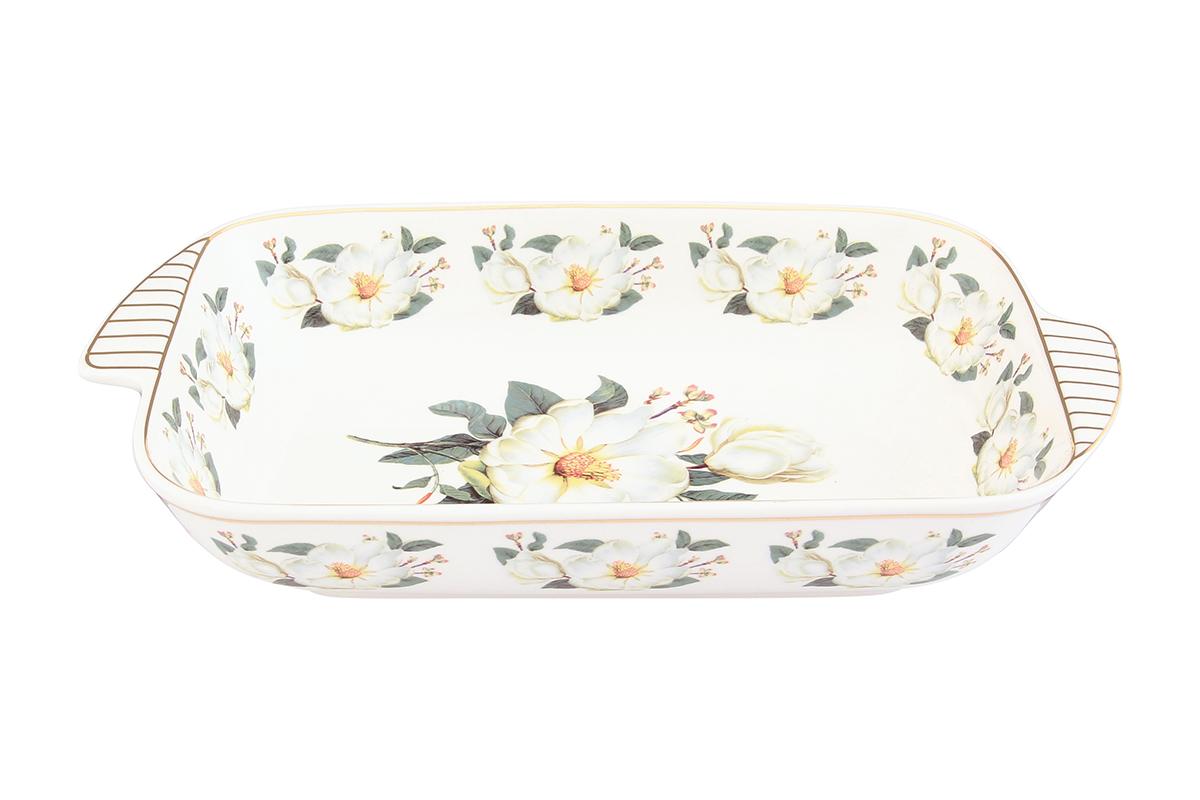 Шубница Elan Gallery Белый шиповник, 900 мл504083Шубница Elan Gallery Белый шиповник, выполненная из высококачественной керамики, идеальное блюдо для сервировки традиционного салата Сельдь под шубой или любого другого слоеного салата. Компактное, аккуратное блюдо с ручками для удобства станет незаменимым при любом застолье.
