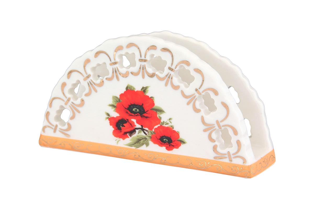 Салфетница Elan Gallery Маки, 13,5 х 4,5 х 7,5 см730518Салфетница - это важная деталь праздничной сервировки. Для хозяек, находящих радость в мелочах, так украшающих интерьер. Размер 13,5х4,5х7,5 см.