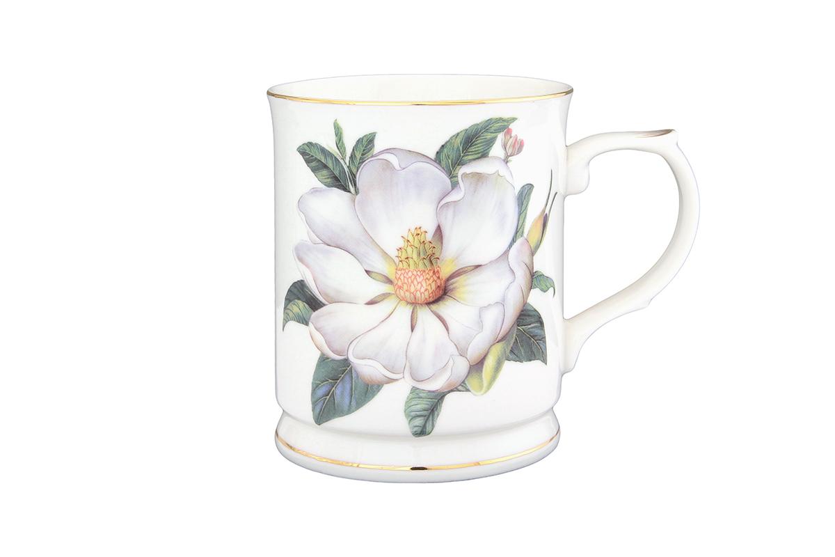 Кружка Elan Gallery Белый шиповник, 400 мл730553Кружка выполненная из керамики, станет оригинальным подарком! Идеальна для тех, кто предпочитает большие кружки и для любителей душевных чаепитий!. Объем 400мл.
