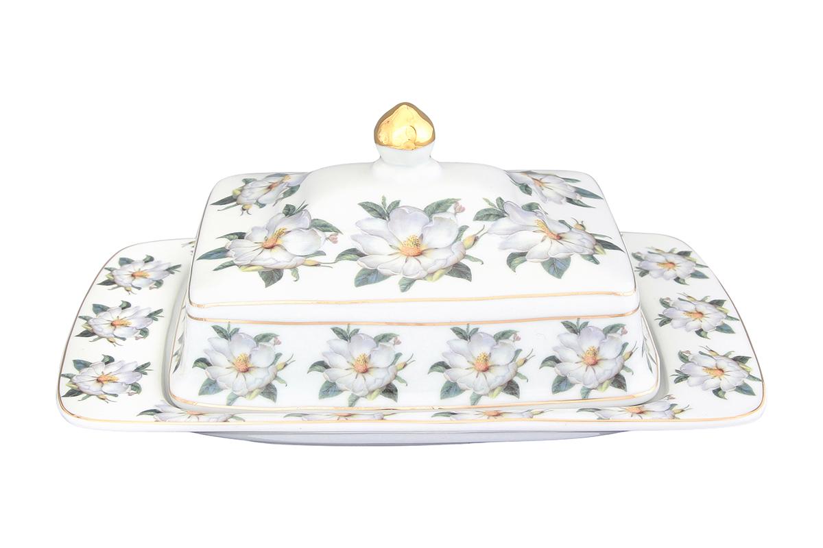 Масленка Elan Gallery Белый шиповник, 20 х 14 х 9,5 см730576Масленка специально предназначена для хранения масла. Сохранит его натуральный запах и насыщенный вкус при хранении в холодильнике. А на столе будет смотреться просто замечательно! Идеально подходит для сервировки завтраков и чаепитий. Размер 20х14х9,5 см.