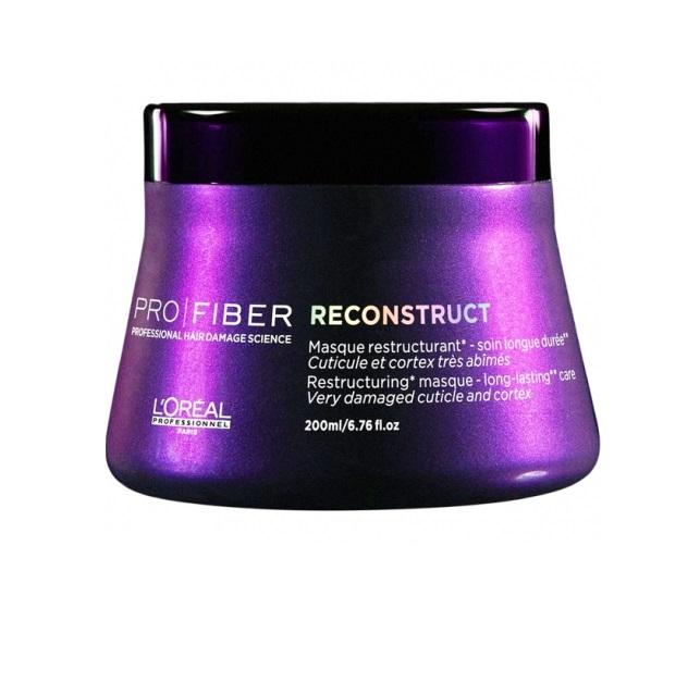 LOreal Professionnel Маска для волос Pro Fiber Reconstruct Masque, 200 млLE1546800Если вы устали бороться с ломкостью и сухостью волос, воспользуйтесь замечательной маской для волос LOreal Professionnel Pro Fiber Reconstruct Masque. Средство поможет вернуть здоровье и блеск потускневшим волосам, а также обезопасить их от негативного влияния перепадов температур и фена, поможет восстанавливающая маска LOreal Professionnel Pro Fiber Reconstruct Masque. Вооружитесь этим великолепным средством – и вашей шевелюрой будут восхищаться миллионы! Маска для волос обогащена миносиланом – специальным силиконовым соединением кремния для укрепления и восстановления структуры волос. Питательное средство эффективно увлажняет и восстанавливает пересушенные волосы.Маска наполняет силой тусклые и поврежденные волосы, делая их более сильными и объемными. Средство наполняет пористые волосы протеином. Теперь Вам не нужно тратить свое время и деньги на салоны красоты! Маска для волос LOreal Professionnel Pro Fiber Reconstruct Masque за считанные дни вернет вашим волосам былую красоту...