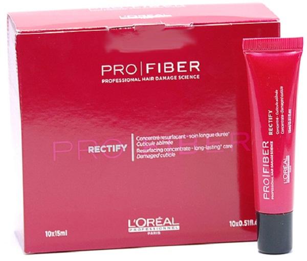 LOreal Professionnel Концентрат продолжительного действия Expert Pro Fiber Rectify Concentrate, 10х15 млLE1547300Густые, блестящие волосы — гордость и шикарное украшение каждой женщины. Леди во всем мире интенсивно ухаживают за своими волосами, стараясь поддерживать их здоровое сияние и силу. На состояние здоровья волос влияет много факторов, иногда требуется более сильная «терапия», чтобы вернуть прядям естественную красоту и блеск. Одним из таких средств является восстанавливающий концентрат Pro Fiber Rectify, представленный французским брендом LOreal Professionnel. В результате его применения волосы не только очищаются, но и словно оживают. Восстанавливающий концентрат Pro Fiber Rectify содержит следующие активные компоненты: аминосилан и катионный полимер. Аминосилан — силиконовое соединение кремния для связывания внутренних слоев волоса в трехмерную сеть - укрепляет и восстанавливает структуру волос. Катионный полимер, покрывающий кутикулу волоса защитной пленкой и «герметизирующий» комплекс Aptyl 100 внутри волоса. С LOreal Professionnel Pro Fiber Rectify ваши волосы становятся...