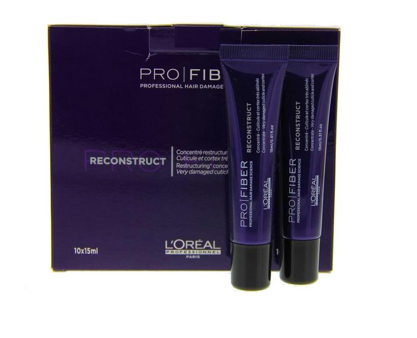 LOreal Professionnel Восстанавливающий концентрат для волос Pro Fiber Reconstruct Concentrate, 10х15 млLE1547500Восстанавливающий концентрат для волос Reconstruct Concentrate на основе уникальной запатентованной программы Pro Fiber - это косметический продут для ухода за поврежденными волосами, созданный известным французским брендом LOreal Professionnel. Следует заметить, что прежде, чем самостоятельно применять оздоровительные средства программы Pro Fiber, необходимо проконсультироваться у специалиста салона. Восстановительные процедуры проводятся исключительно сначала в условиях салона и могут включать дополнительный домашний уход. Тот или другой косметический продукт будет применяться в зависимости от степени повреждения волос. Восстанавливающий концентрат содержит «герметизирующий» комплекс Aptyl 100, аминосилан и катионный полимер, покрывающий кутикулу волоса защитной пленкой. Волосы оздоравливаются одновременно изнутри и снаружи. В результате волосы вновь становятся эластичными и сияющими, к ним возвращается мягкость и природный блеск, эластичность и здоровый вид.