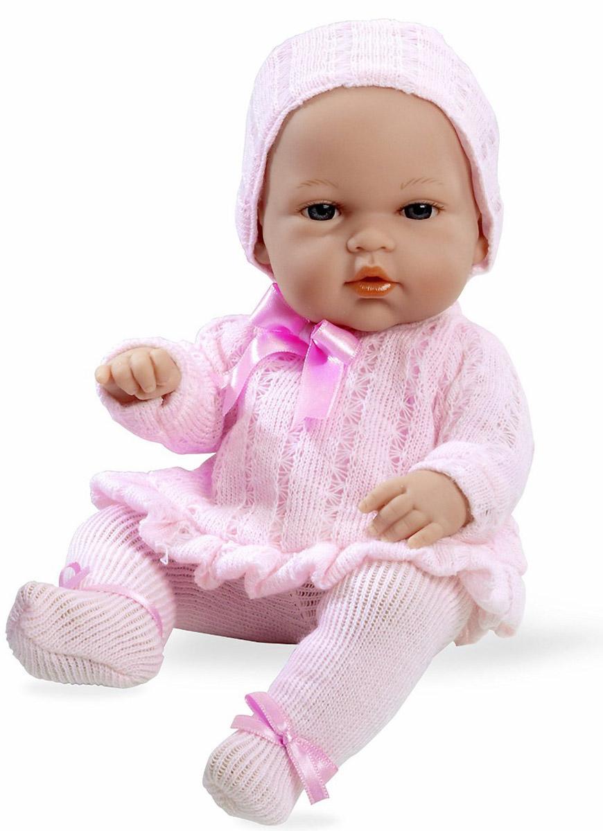 Arias Пупс Elegance в колготах и шапочке цвет розовыйТ58635Пупс Arias Elegance обязательно понравится вашей малышке! Очаровательная кукла, изготовленная из высококачественного материала, одета в розовый костюмчик, почти как у настоящих новорожденных, на голове - шапочка. Игра с пупсом разовьет в вашей малышке фантазию и любознательность, поможет овладеть навыками общения и научит ролевым играм, воспитает чувство ответственности и заботы. Порадуйте свою малышку таким великолепным подарком! Куклы Arias коллекции Elegance, изготовленные в Испании, это куклы превосходного качества и высокой детализации исполнения каждой детали. Они действительно элегантны и тем самым притягательны с первого взгляда.