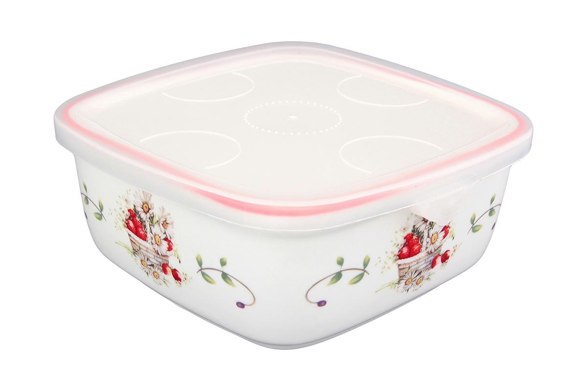 Блюдо для холодца Elan Gallery Ромашки, квадратное, с крышкой, 16 х 16 х 6,5 см101284Блюдо для холодца, изготовленное из высококачественной керамики, предназначено для приготовления и хранения заливного или холодца. Пластиковая крышка, входящая в комплект, сохранит свежесть вашего блюда. Также блюдо можно использовать для приготовления и хранения салатов. Такое блюдо украсит сервировку вашего стола и подчеркнет прекрасный вкус хозяйки. Объем 700мл.