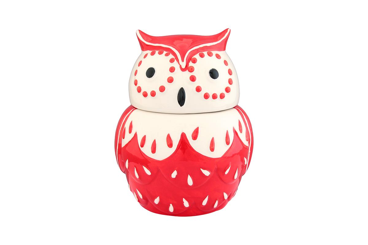 Горшочек для меда Elan Gallery Сова, цвет: красный, 610 мл110839Горшочек для меда Elan Gallery Сова, выполненный из высококачественной керамики, лучший подарок для сладкоежки. Изделие снабжено плотно закрывающейся крышкой. Можно использовать для сыпучих продуктов - соли и сахара. Размер банки: 13 х 12 х 15 см.