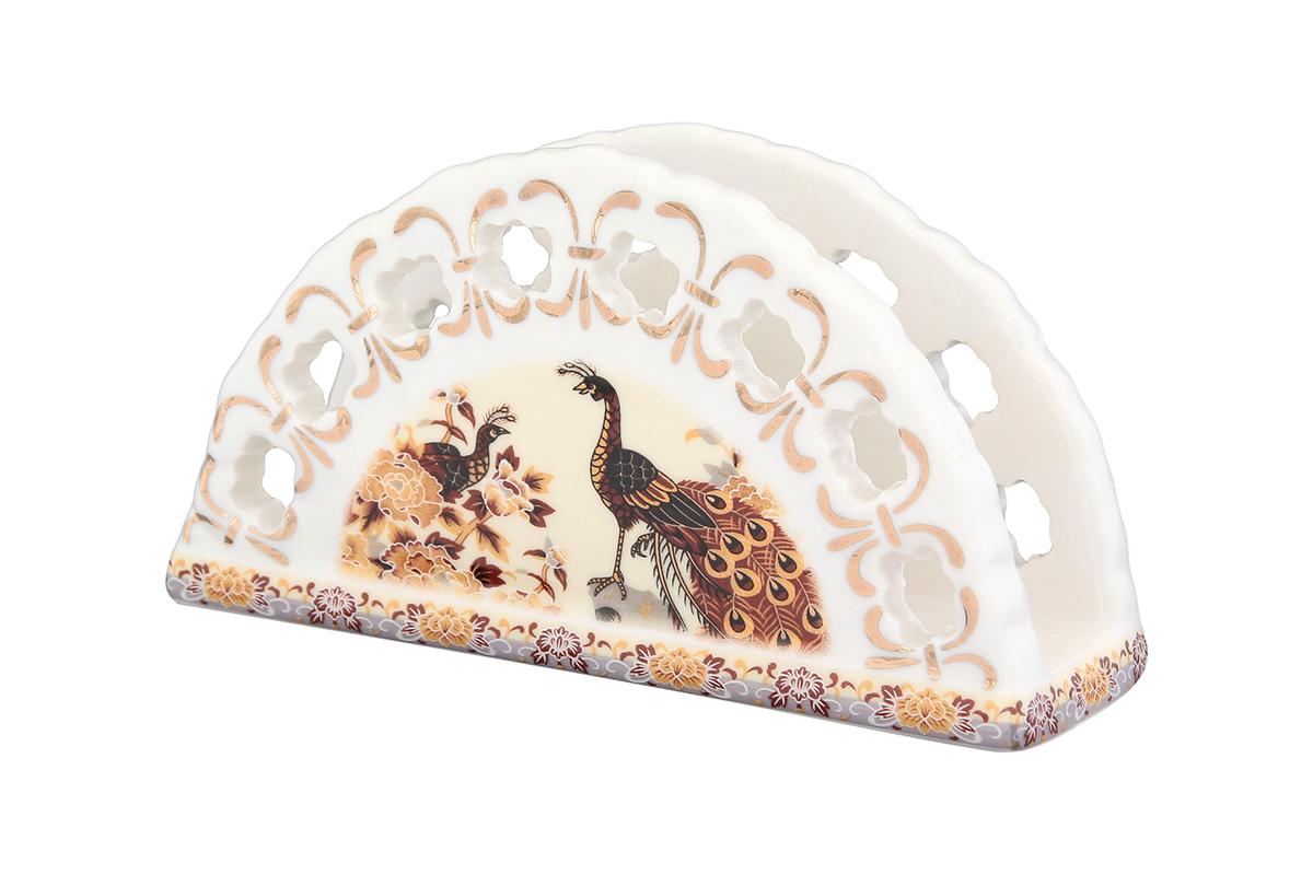 Салфетница Elan Gallery Павлин на бежевом, 13,5 х 4,5 х 7,5 см730515Салфетница - это важная деталь праздничной сервировки. Для хозяек, находящих радость в мелочах, так украшающих интерьер. Размер 13,5х4,5х7,5 см.