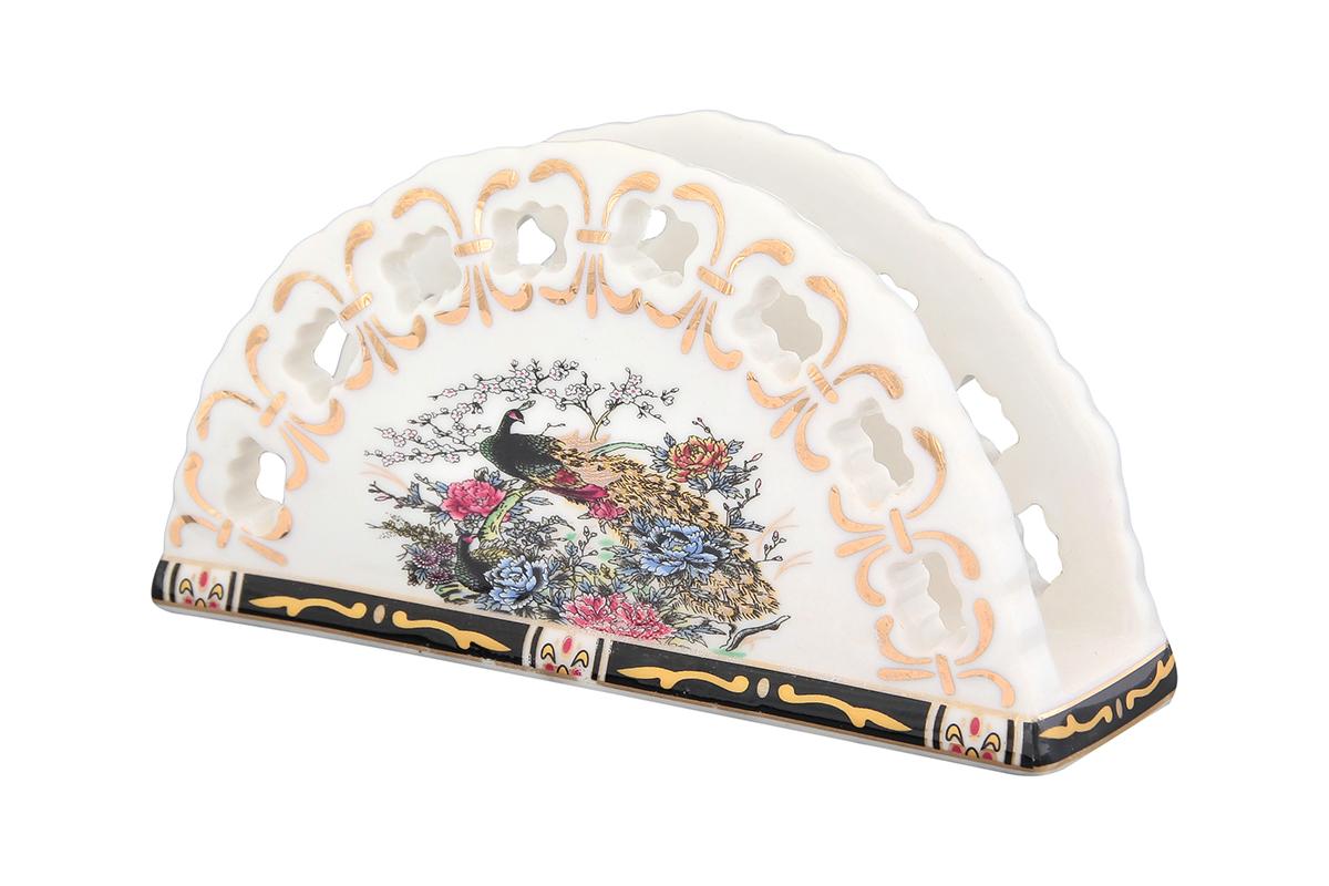 Салфетница Elan Gallery Павлин на золоте, 13,5 х 4,5 х 7,5 см730516Салфетница - это важная деталь праздничной сервировки. Для хозяек, находящих радость в мелочах, так украшающих интерьер. Размер 13,5х4,5х7,5 см.