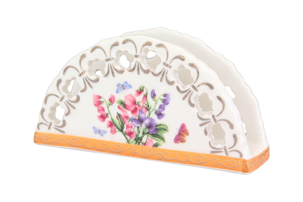 Салфетница Elan Gallery Душистый цветок, 13,5 х 4,5 х 7,5 см730519Салфетница Elan Gallery Душистый цветок изготовлена из высококачественной керамики и оформлена оригинальным рисунком. Она сочетает в себе изысканный дизайн с максимальной функциональностью. Компактная и в то же время вместительная салфетница станет не только украшением любого стола, но и отличным подарком.