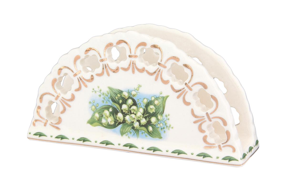Салфетница Elan Gallery Ландыши, 13,5 х 4,5 х 7,5 см730520Салфетница - это важная деталь праздничной сервировки. Размер: 13,5 х 4,5 х 7,5 см.