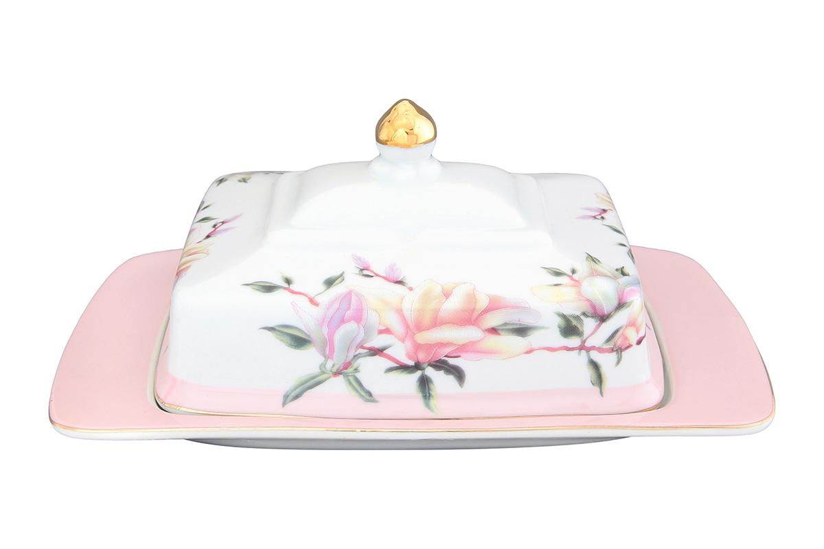 Масленка Elan Gallery Орхидея на розовом, 20 х 14 х 9,5 см730575Масленка специально предназначена для хранения масла. Сохранит его натуральный запах и насыщенный вкус при хранении в холодильнике. А на столе будет смотреться просто замечательно! Идеально подходит для сервировки завтраков и чаепитий. Размер 20х14х9,5 см.