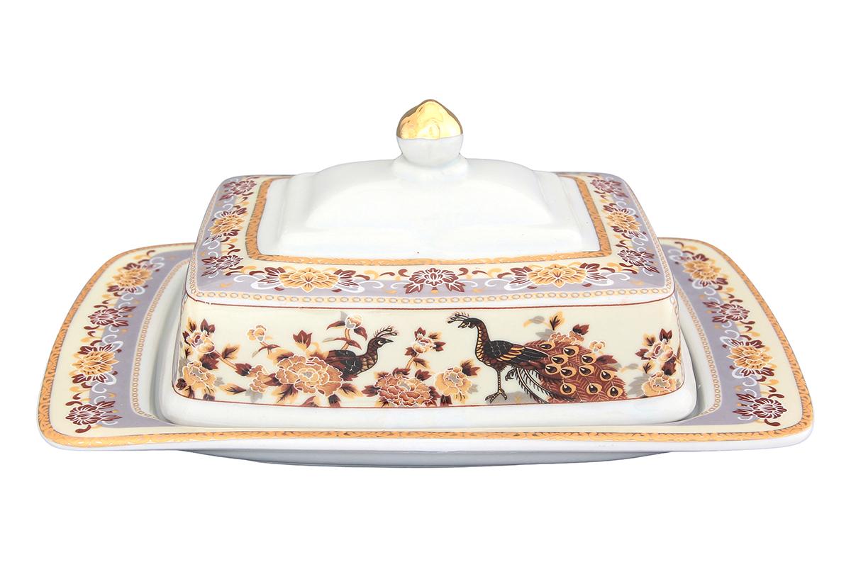 Масленка Elan Gallery Павлин на бежевом, 20 х 14 х 10 см730577Масленка специально предназначена для хранения масла. Сохранит его натуральный запах и насыщенный вкус при хранении в холодильнике. А на столе будет смотреться просто замечательно! Идеально подходит для сервировки завтраков и чаепитий. Размер 20х14х9,5 см.