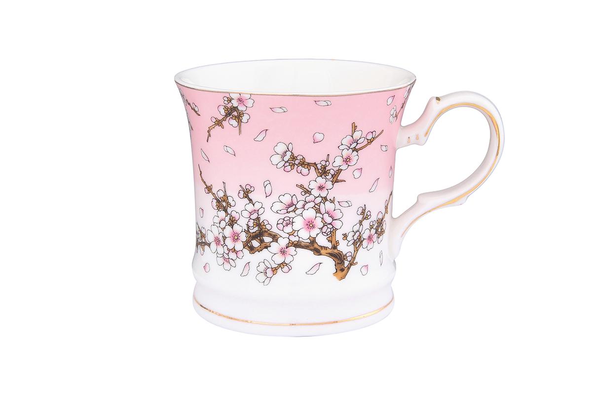 Кружка Elan Gallery Сакура на розовом, 170 мл730590Кружка станет прекрасным подарком и послужит верой и правдой в повседневной жизни. Изделие имеет подарочную упаковку. Объем 170мл.