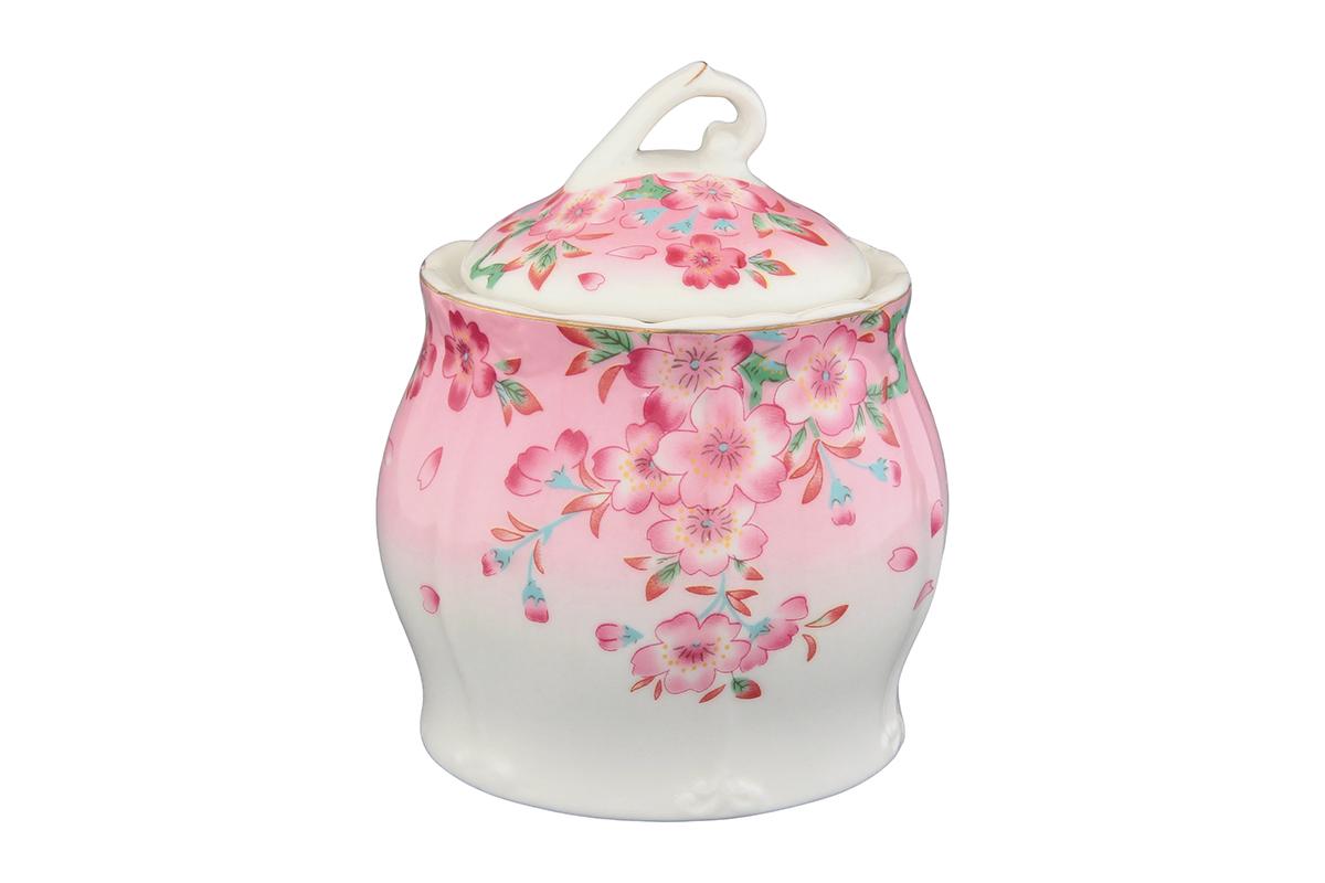 Горшочек для меда Elan Gallery Сакура, цвет: белый, розовый, зеленый, 330 мл740224Горшочек для меда - удобный предмет для хранения любимого лакомства в оригинальном исполнении. Дополнит облик вашей кухни и прекрасно впишется в интерьер. Станет отличным подарком для любой хозяйки. Объем горшочка: 330 мл.