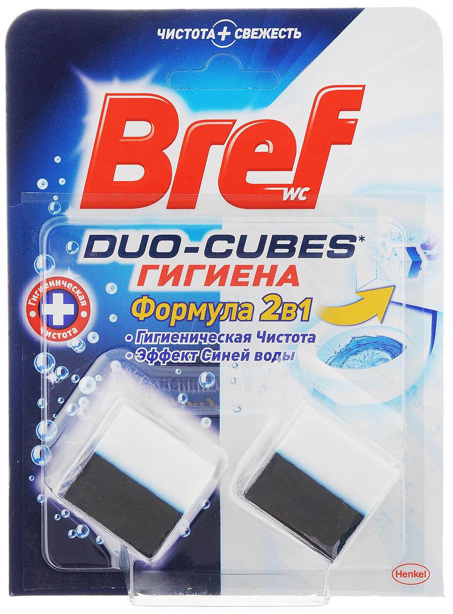 Чистящее средство для сливного бачка Bref Duo-Cubes. Гигиена 2 в 1, 50 г, 2 шт934891Чистящее средство Bref Duo-Cubes. Гигиена 2 в 1 - кубики для сливного бачка, которые обеспечивают гигиеническую чистоту после каждого смыва. При смывании вода окрашивается в синий цвет. В комплекте 2 кубика. С этими кубиками ваш туалет будет всегда оставаться в чистоте. Состав: 15-30% анионные ПАВ, сульфат натрия, 5- 15% неионогенные ПАВ, цитрат натрия, Товар сертифицирован.