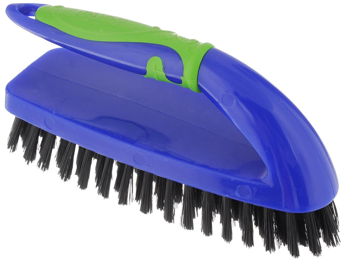Щетка-утюжок Banat Color, цвет: синий, зеленый730419_синийЩетка-утюжок Banat Color изготовлена из пластика. Мягкая упругая щетина щетки позволит очистить любые поверхности: одежду, диваны и кресла, подушки, гобелены и т.д. Ручка снабжена противоскользящей резиновой вставкой. Длина щетины: 2,5 см. Размер рабочей поверхности: 17 х 6 см.