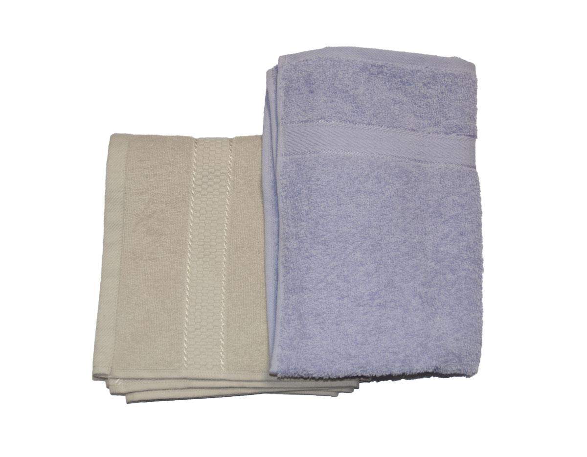 Набор махровых полотенец Aisha Home Textile, цвет: бежевый, сиреневый, 2 штУзТ-ПМ-104-03-28Полотенца Aisha Home Textile выполненных из натурального 100% хлопка. Изделия отлично впитывают влагу, быстро сохнут, сохраняют яркость цвета и не теряют формы даже после многократных стирок. Полотенца очень практичны и неприхотливы в уходе.