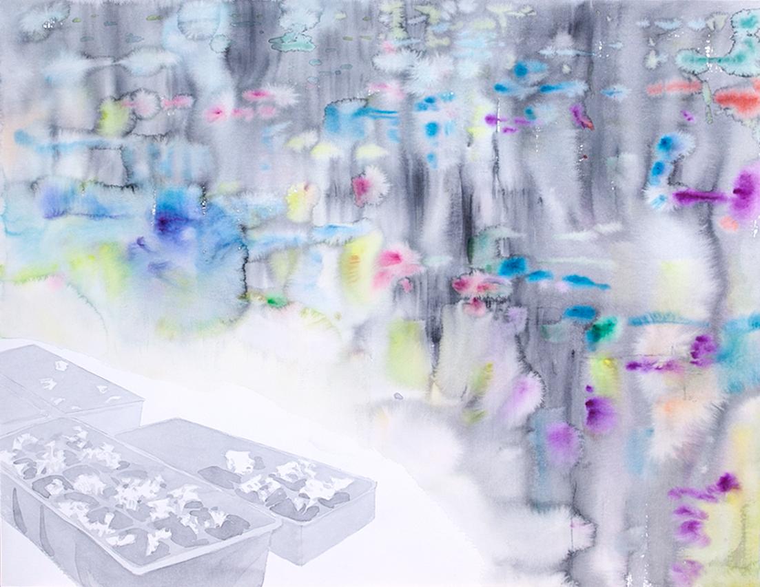 Авторская графика Рассада, 65х50. Автор Сергей ЛоцмановSL12-006Графика Сергея Лоцманова. Сергей Лоцманов, художник Галереи 21, один из немногих молодых авторов, который работает со сложнейшей техникой нанесения геометрических образов акварелью и тушью на бумагу, а также создает концептуальные инсталляции из найденных материалов.