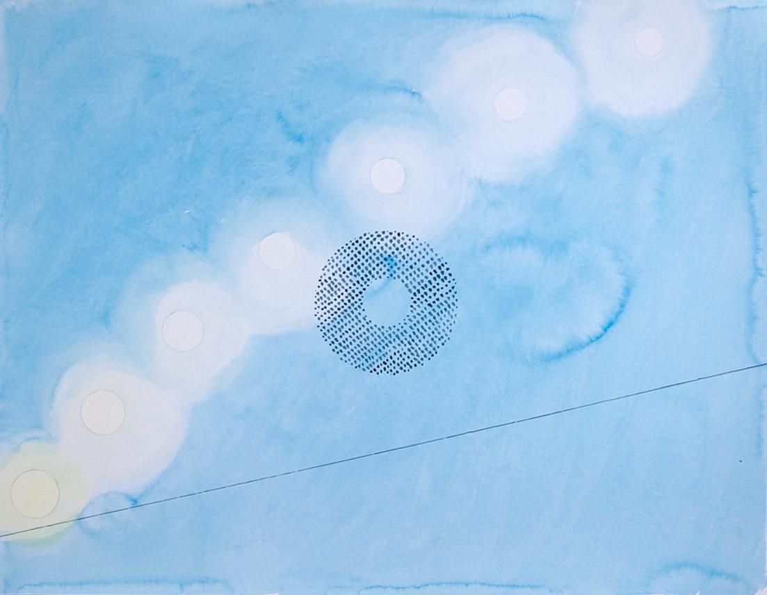 Авторская графика Лунный восход, 65х50. Автор Сергей Лоцманов