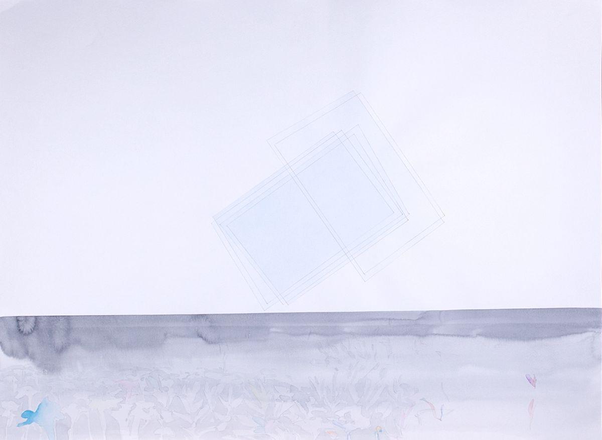Авторская графика Наслоение, 75х55. Автор Сергей ЛоцмановSL12-021Графика Сергея Лоцманова. Сергей Лоцманов, художник Галереи 21, один из немногих молодых авторов, который работает со сложнейшей техникой нанесения геометрических образов акварелью и тушью на бумагу, а также создает концептуальные инсталляции из найденных материалов.